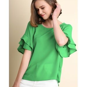 Adelphi Blouse in Green